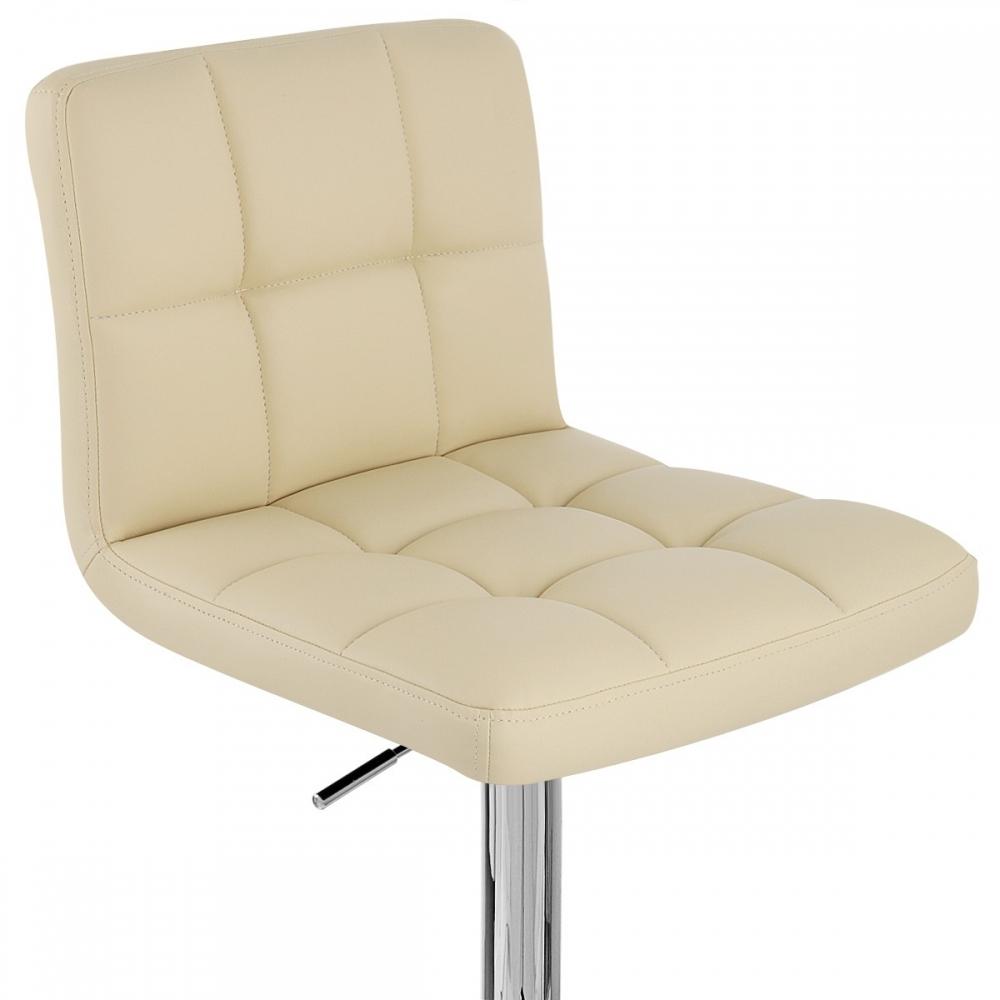 chaise de bar faux cuir chrome grid monde du tabouret. Black Bedroom Furniture Sets. Home Design Ideas