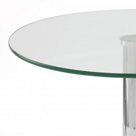 Table Basse Chrome Verre - Glacier