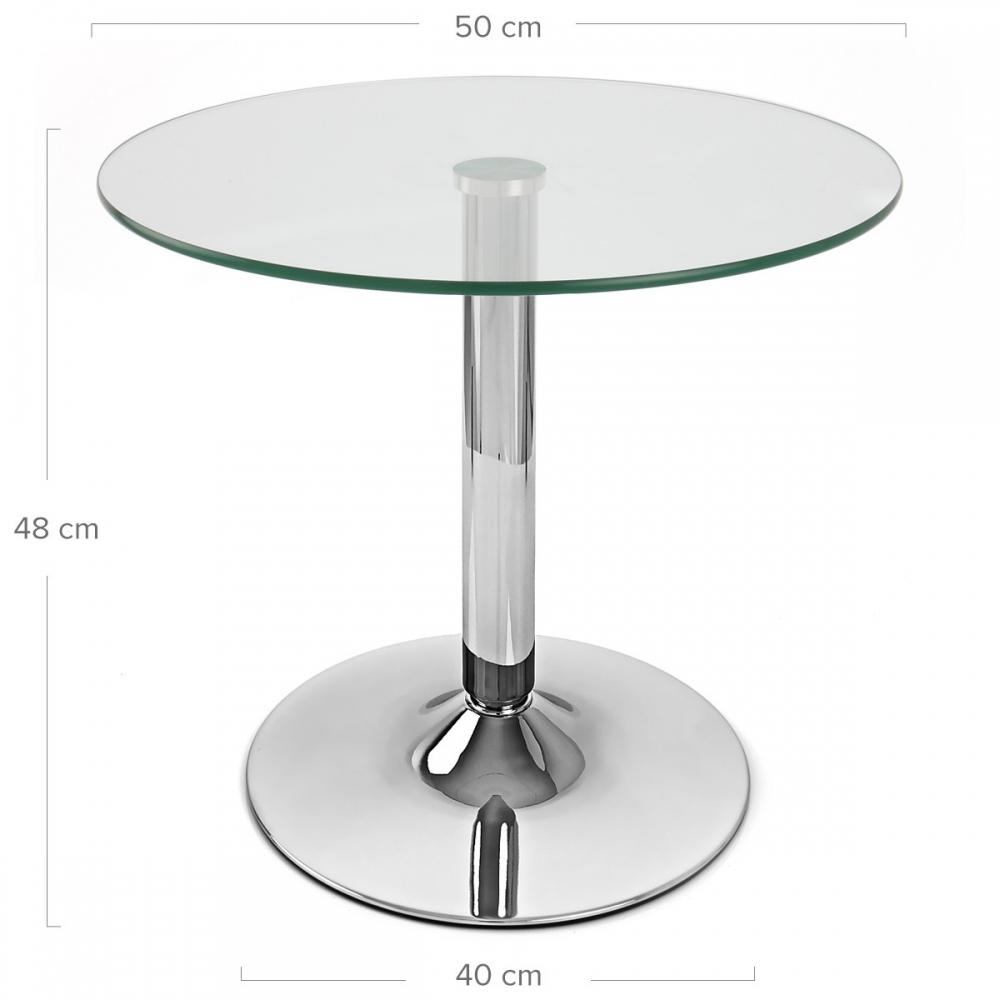 Table basse en verre glacier monde du tabouret - Table basse pied chrome ...