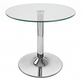 Table Basse Chrome Verre - Glacier