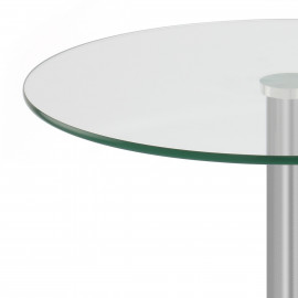 Table Basse Chrome Brossé Verre - Glacier