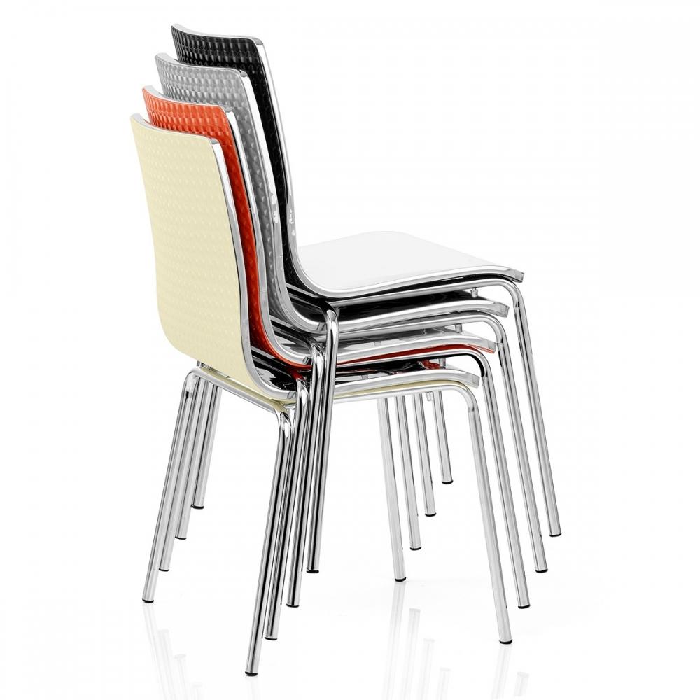 chaise plastique noir fresco monde du tabouret