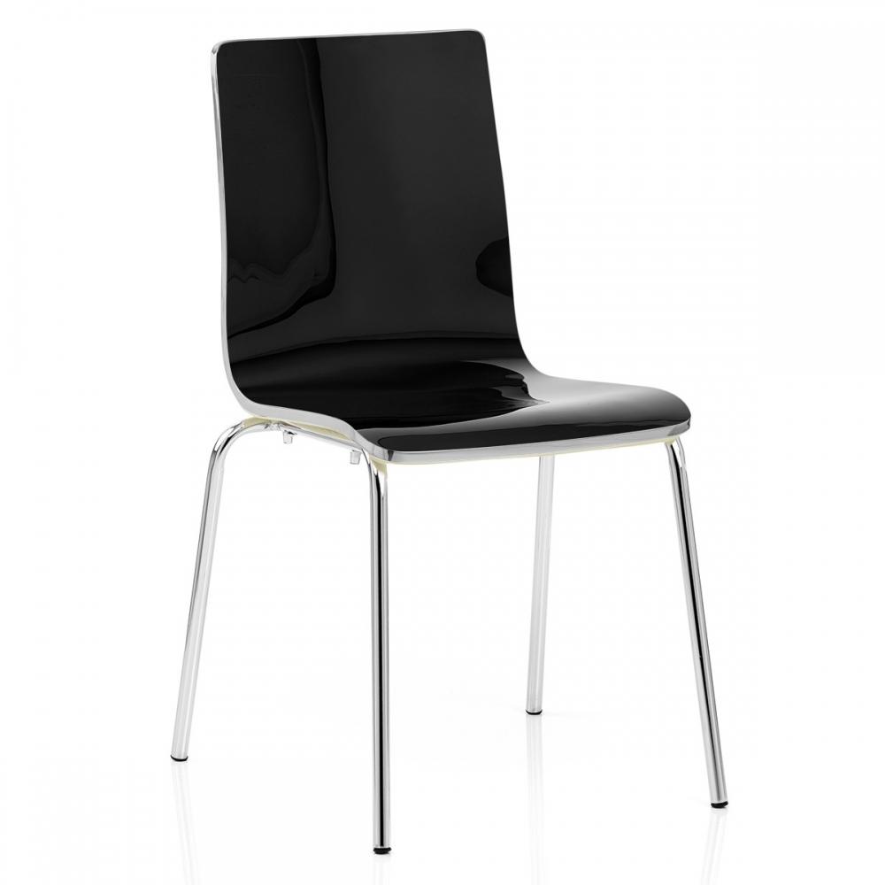 chaise plastique noir fresco monde du tabouret. Black Bedroom Furniture Sets. Home Design Ideas