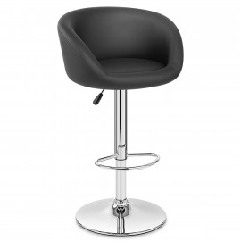Chaise de Bar Faux Cuir Chrome - Eclipse