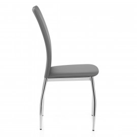 Chaise Faux Cuir Chrome - Hugo
