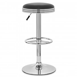 Chaise de Bar Faux Cuir Chrome - Java