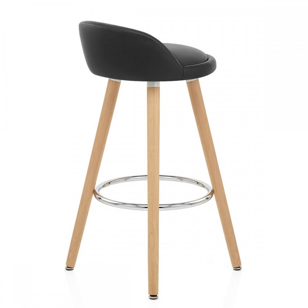tabouret de bar faux cuir bois jive monde du tabouret. Black Bedroom Furniture Sets. Home Design Ideas