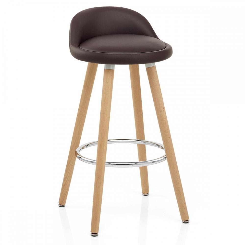 chaise de bar bois faux cuir jive monde du tabouret. Black Bedroom Furniture Sets. Home Design Ideas