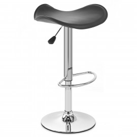 Chaise de Bar Faux Cuir Chrome - Jupiter