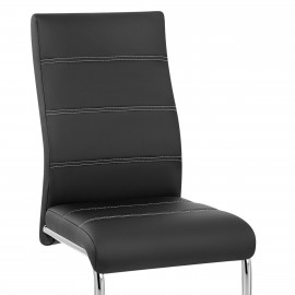 Chaise Faux Cuir Chrome - Kappa
