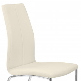 Chaise Faux Cuir Chrome - Kudos