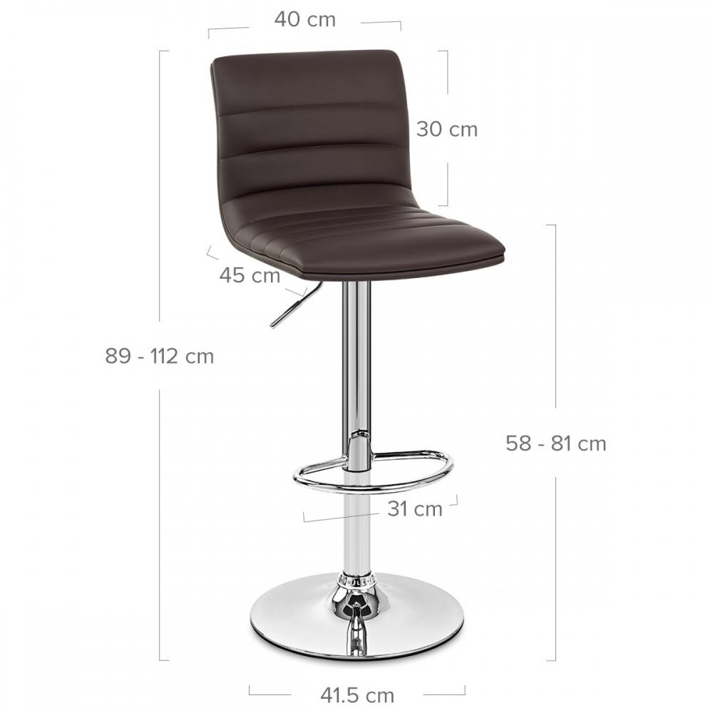 tabouret de bar linear chrome monde du tabouret. Black Bedroom Furniture Sets. Home Design Ideas