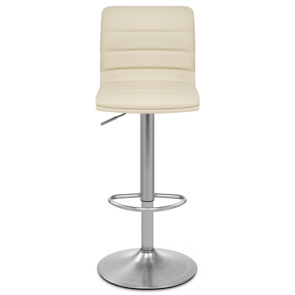Chaise de Bar Faux Cuir Chrome Brossé - Linear