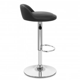 Chaise de Bar Faux Cuir Chrome - Lulu