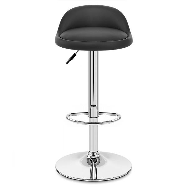 Chaise de Bar Faux Cuir Chrome - Lulu