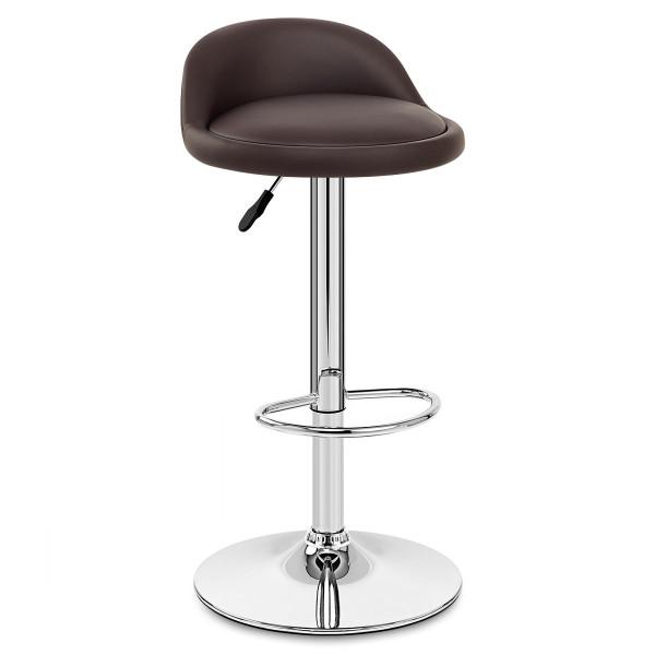 Chaise de Bar Cuir Chrome - Lulu