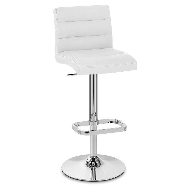 Chaise de Bar Faux Cuir Chrome - Lush