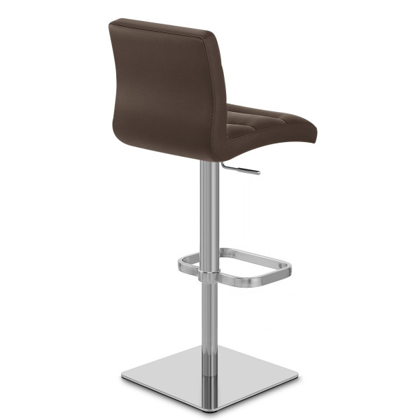 Chaise de Bar Cuir Chrome Brossé - Lush