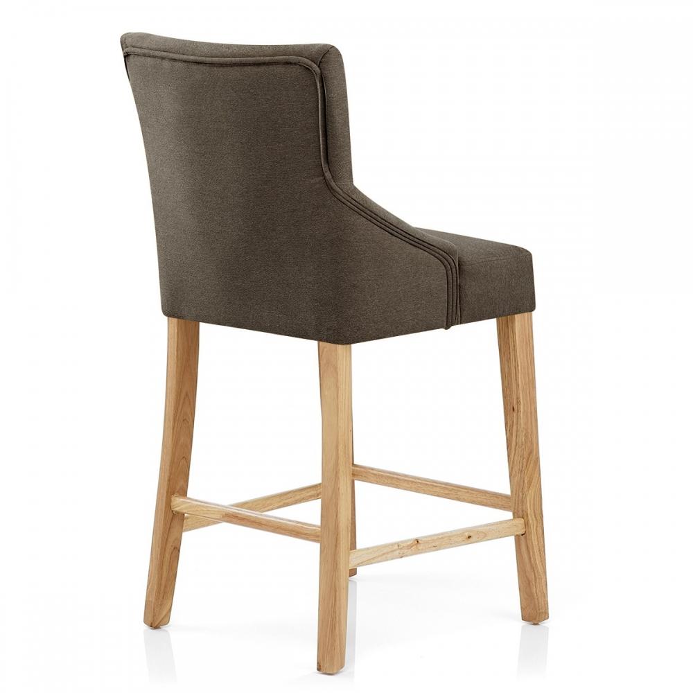 Chaise de bar tissu bois magna monde du tabouret for Chaise haute design bois