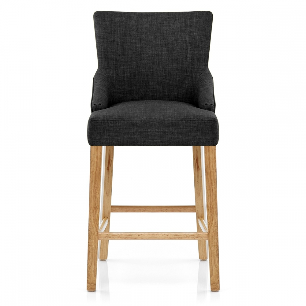 chaise de bar tissu bois magna monde du tabouret. Black Bedroom Furniture Sets. Home Design Ideas
