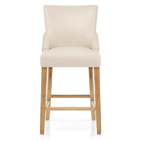 Chaise de bar Faux Cuir Bois - Magna