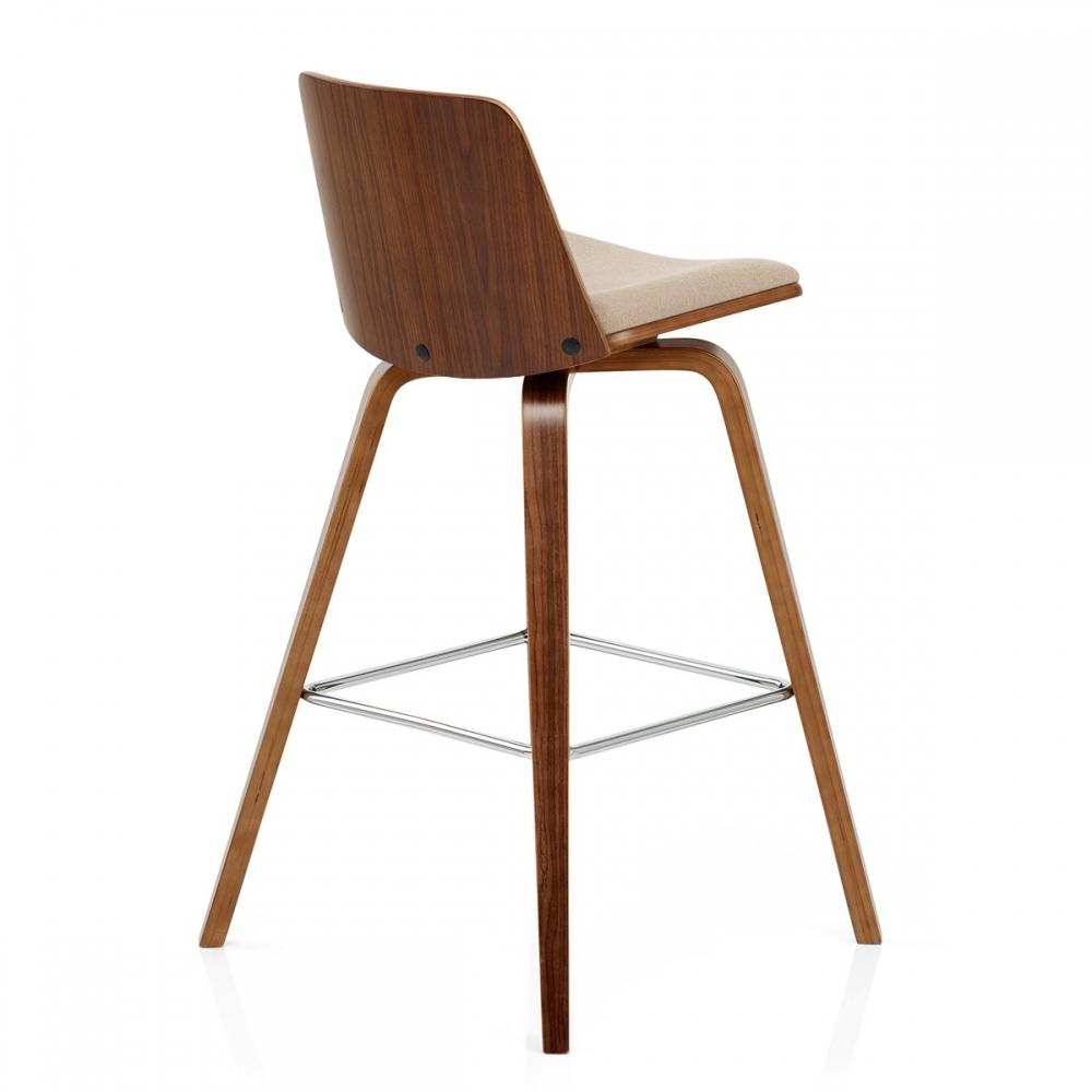 tabouret de bar bois tissu mirage. Black Bedroom Furniture Sets. Home Design Ideas