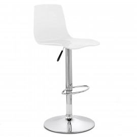 Chaise De Bar Plastique Chrome