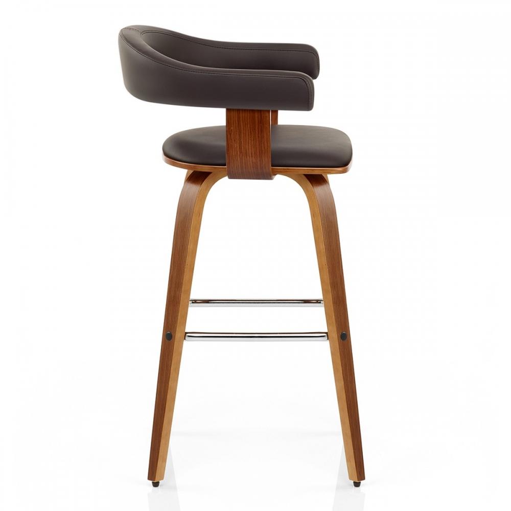 Chaise de bar faux cuir bois ontario monde du tabouret for Chaise watford