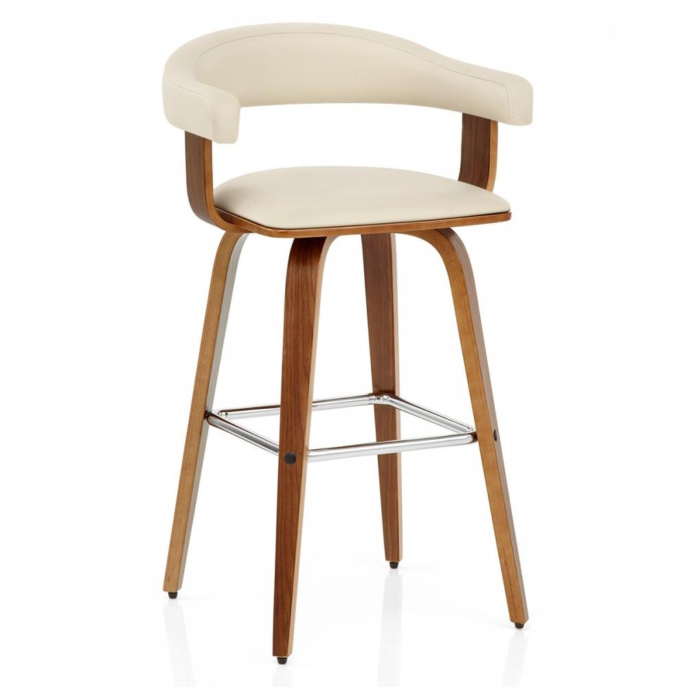 Chaise de bar faux cuir bois ontario monde du tabouret for Chaise cuir bois