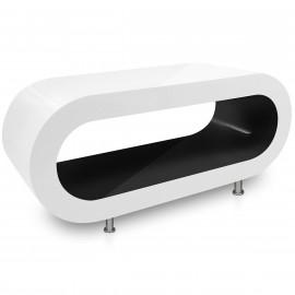 Table Basse Blanche, intérieur Noir - Orbit