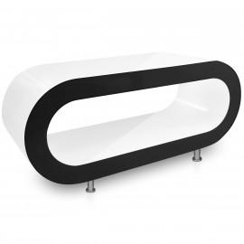 Table Basse Blanche, côtés Noir - Orbit