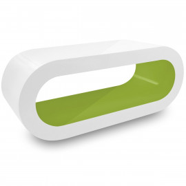 Table Basse Blanche, intérieur Vert - Orbit