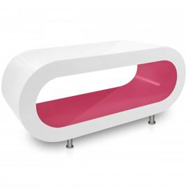 Table Basse Blanche, intérieur Rose - Orbit