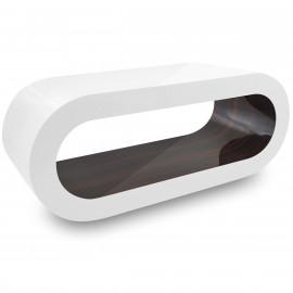 Table Basse Blanche, intérieur Noyer - Orbit