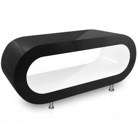Table Basse Noire, intérieur Blanc - Orbit