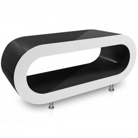Table Basse Noire, côtés Blanc - Orbit
