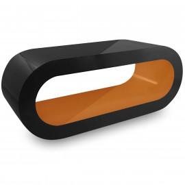 Table Basse Noire, Intérieur Orange - Orbit