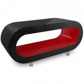Table Basse Noire, intérieur Rouge - Orbit
