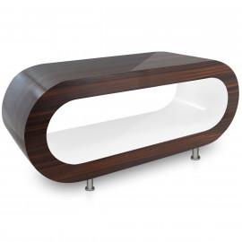 Table Basse Noyer, intérieur Blanc - Orbit