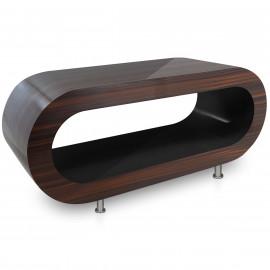 Table Basse Noyer, intérieur Noir - Orbit