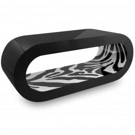 Table Basse Noire, intérieur Zebra - Orbit