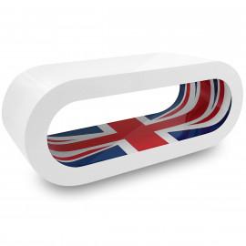 Table Basse Blanche, intérieur Union Jack - Orbit