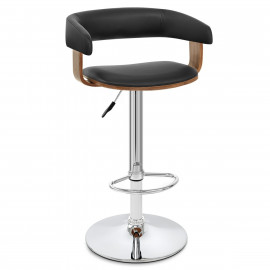 Chaise de Bar Bois Chrome - Orlando
