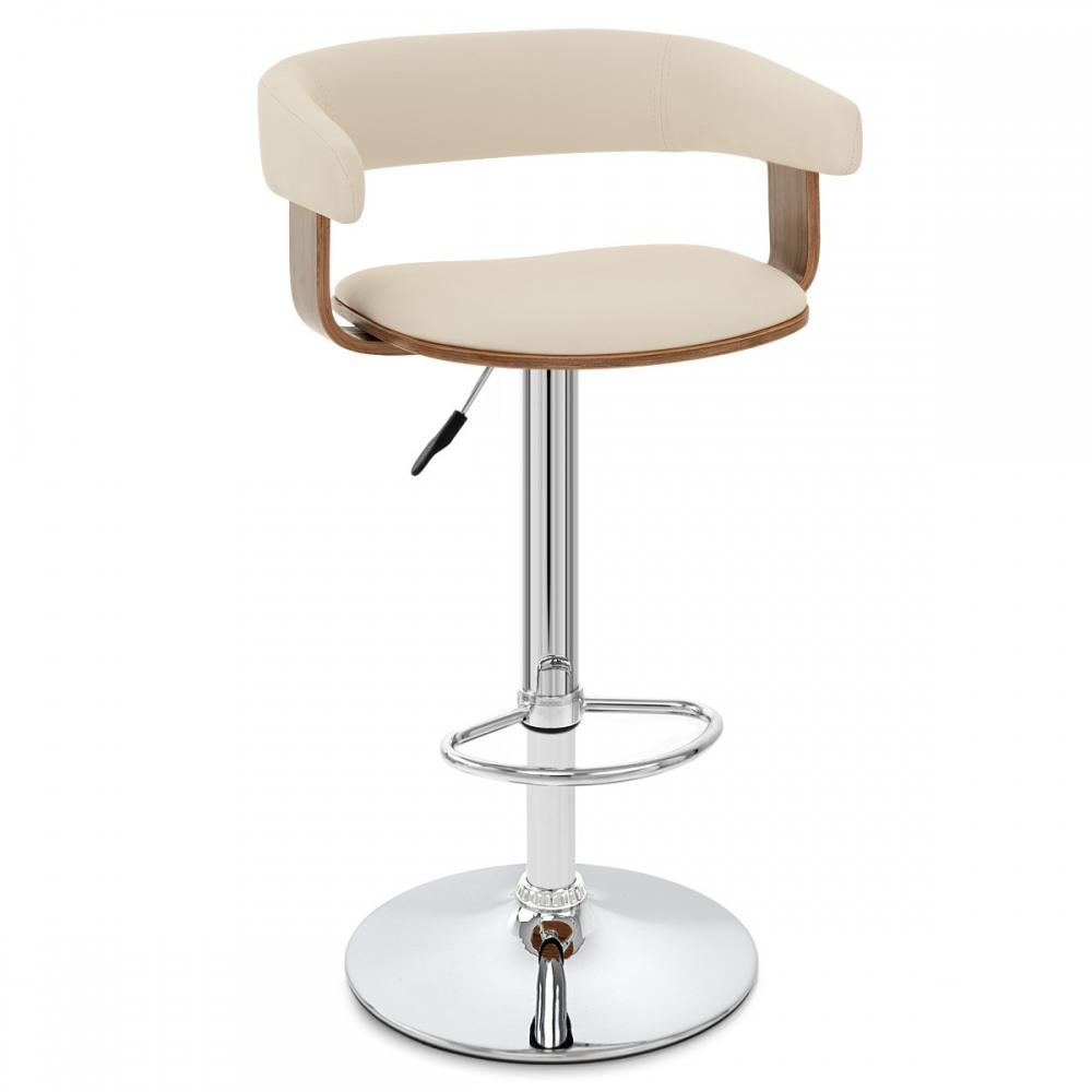 tabouret de bar bois chrome orlando monde du tabouret. Black Bedroom Furniture Sets. Home Design Ideas