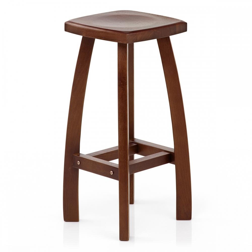 tabouret bois oslo noyer monde du tabouret. Black Bedroom Furniture Sets. Home Design Ideas