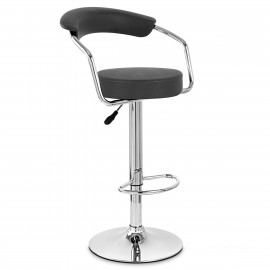 Chaise de bar Faux Cuir Chrome - Pluto