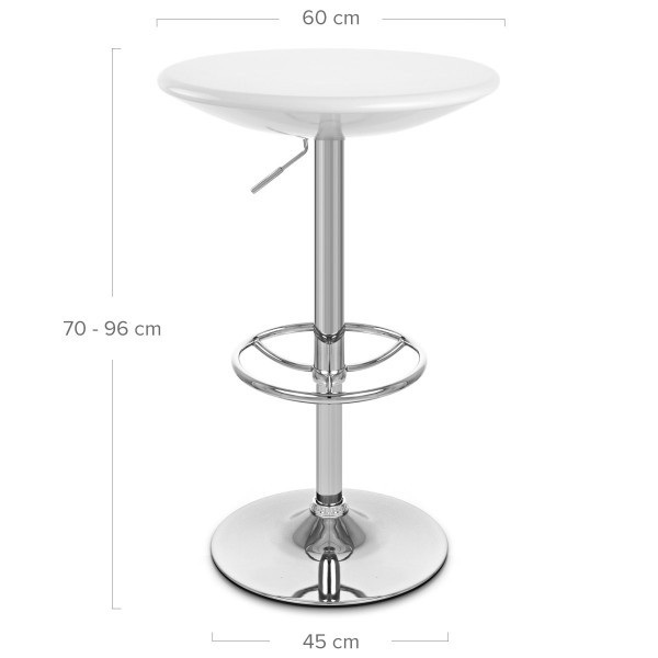 Table de Bar Chrome ABS - Podium Noir