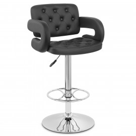 Chaise de Bar Faux Cuir Chrome - Polaris