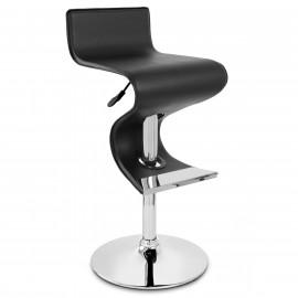 Chaise de Bar Faux Cuir Chrome - Profile