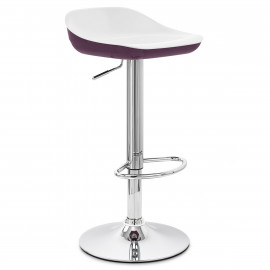 Chaise de Bar ABS Chrome - Reflex Blanc